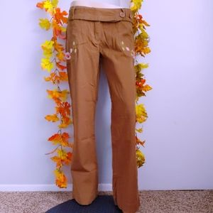 NWT TULLE PANTS FLARE LEG EMBROIDERED